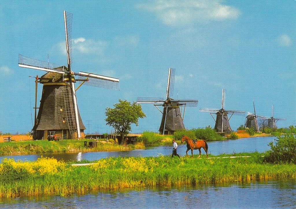 Cối xay gió biểu tượng của đất nước Hà Lan