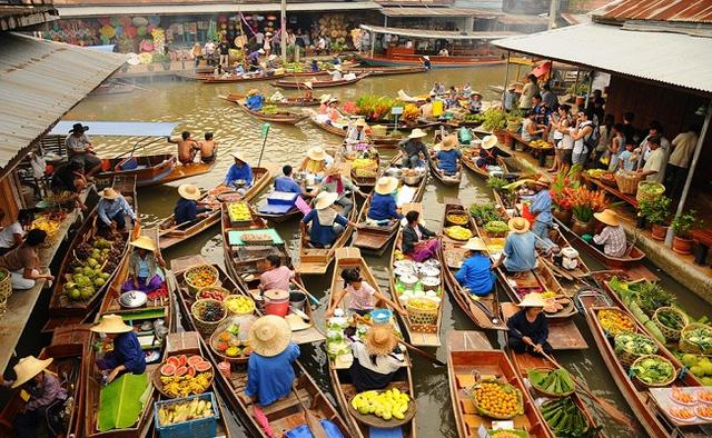Các khu chợ nổi